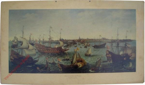 Schepen voor de haven van Vlissingen